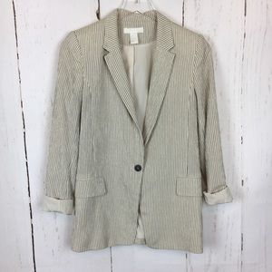 H&M | Textured Striped Blazer